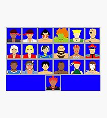 Select Your Character - Ultra Street Fighter 2 Photographic Print