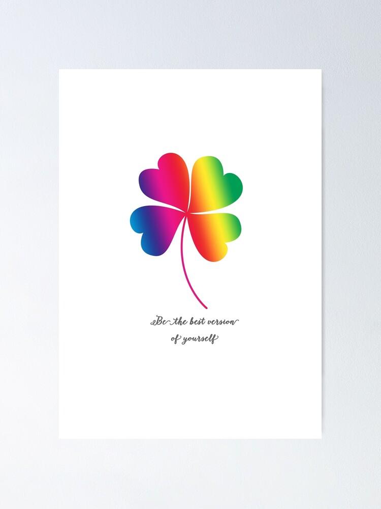 cute bohemian boho motivational inspirational quotes clover