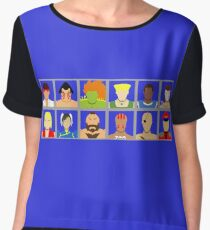 Select Your Character - Street Fighter 2 Champion Edition Women's Chiffon Top