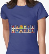 Select Your Character - Street Fighter 2 Champion Edition Women's Fitted T-Shirt