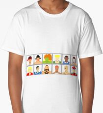 Select Your Character - Street Fighter 2 Champion Edition Long T-Shirt