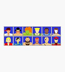 Select Your Character - Street Fighter 2 Champion Edition Photographic Print