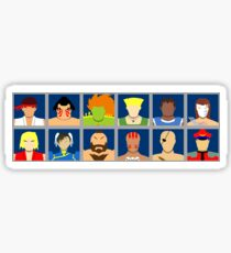 Select Your Character - Street Fighter 2 Champion Edition Sticker