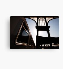 Budapest Railway Station Blues Nyugati Canvas Print