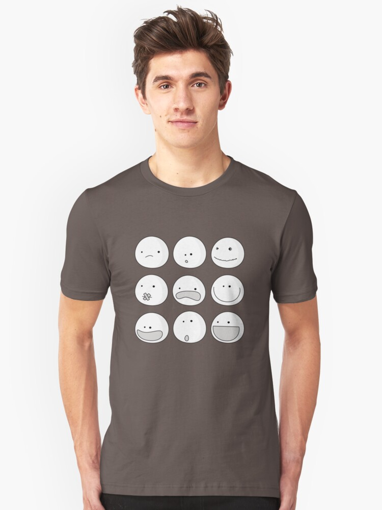 Faces Unisex T-Shirt Front