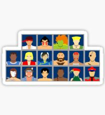 Select Your Character - Street Fighter 2: The New Challengers Sticker