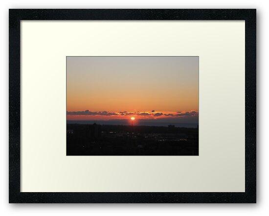 Over the City Sunrise by choochy6