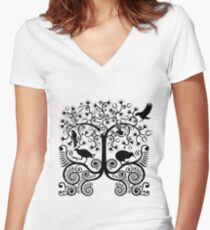 NZ Native Birds Women's Fitted V-Neck T-Shirt
