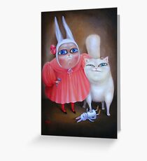 Together Forever. Print on premium canvas Greeting Card
