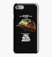 Full Metal Jacket White iPhone Case/Skin