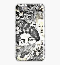 sepia scrapbook roses, frames, Jacqueline Mcculloch iPhone Case/Skin