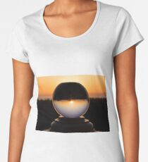 California Snow Globe Women's Premium T-Shirt