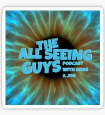 The All Seeing Guys Podcast Eye Print Sticker