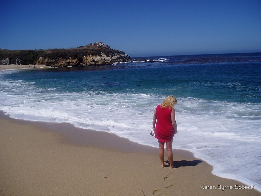 """""""Footprints In The Sand"""" by Karen Byrne-Sobecki"""