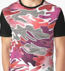Abstract camouflage pattern Graphic T-Shirt
