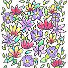 Flower Pattern on White Ground by CarolineLembke