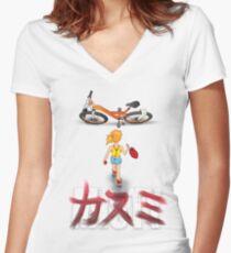 MISTY Women's Fitted V-Neck T-Shirt