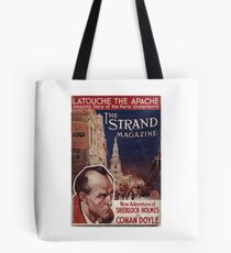 Sherlock Holmes  - The Strand Magazine Cover - Vintage Print Tote Bag