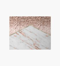 Shimmering rose gold with rose gold marble Art Board