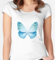 MISS BUTTERFLY EUPLOEA X-RAY White Edition Women's Fitted Scoop T-Shirt