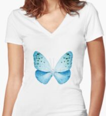 MISS BUTTERFLY EUPLOEA X-RAY White Edition Women's Fitted V-Neck T-Shirt