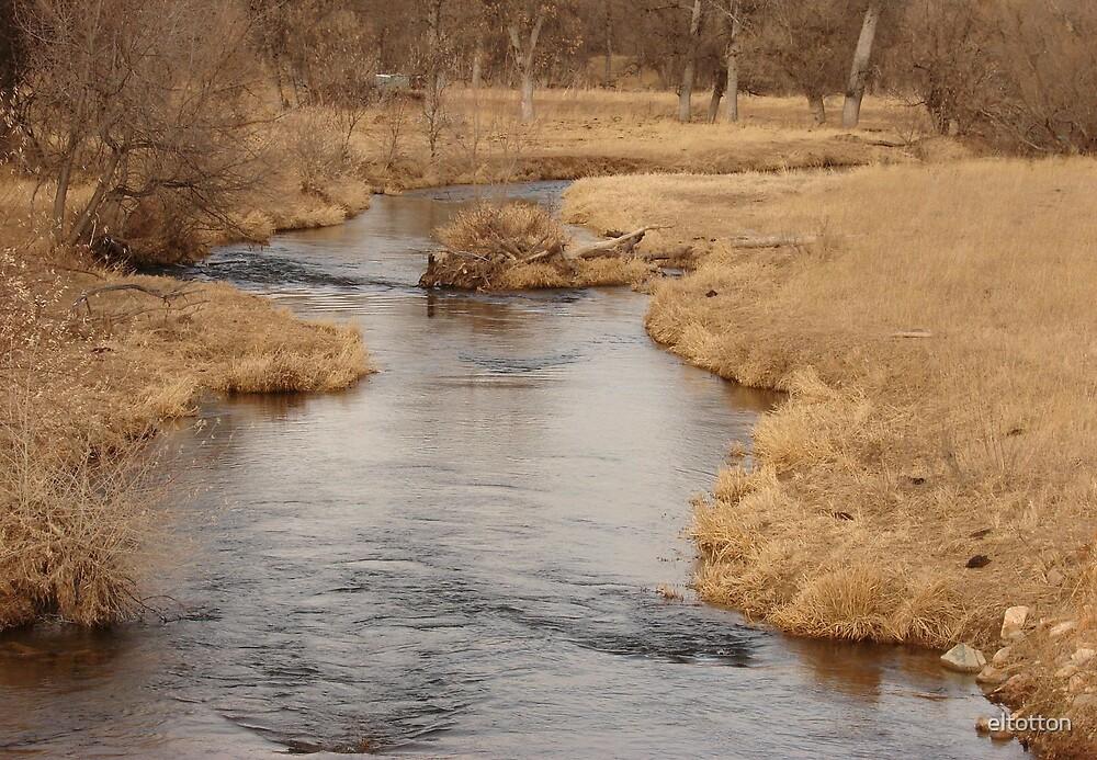 Belle Fourche River in Winter by eltotton
