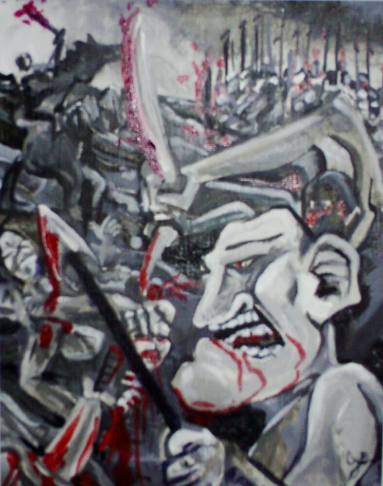 Impetuosity of Technological Warfare #1 (Acrylics)- by Robert Dye