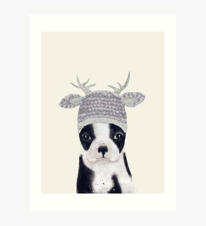 little boston ooh deer Art Print