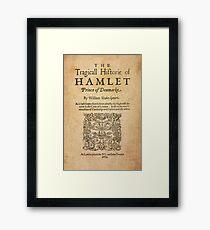 Shakespeare, Hamlet 1603 Framed Print