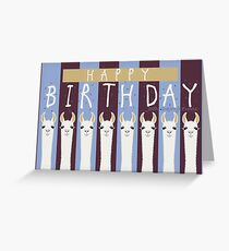 HAPPY BIRTHDAY LLAMAS Greeting Card
