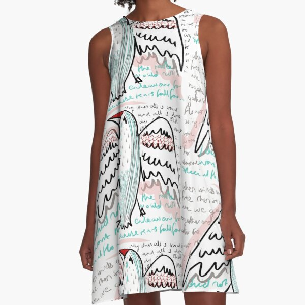 When Birds are Free A-Line Dress