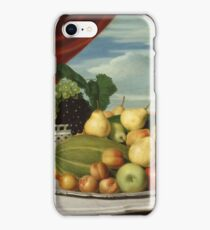 John Vanderlyn - Still Life Fruit In A Classical Setting1854 iPhone Case/Skin