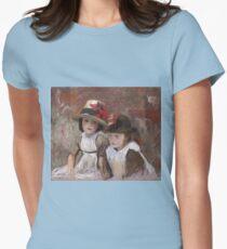 John Singer Sargent - Village Children 1890 Womens Fitted T-Shirt