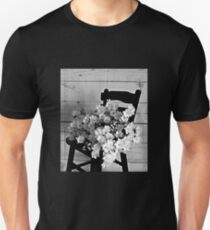 Country Porch Setting in B & W Unisex T-Shirt