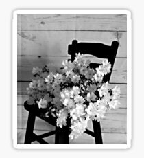 Country Porch Setting in B & W Sticker