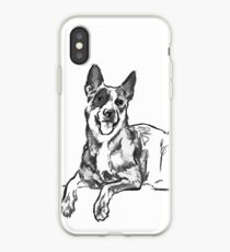 Blue Heeler Drawing iPhone Case