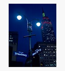 Lights on Broadway Photographic Print