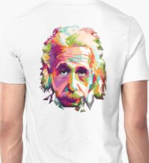 EINSTEIN, a go go, Genius, Math, E = mc2, Science, Physics, Cosmology, Groovy, Portrait Unisex T-Shirt