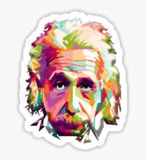 EINSTEIN, a go go, Genius, Math, E = mc2, Science, Physics, Cosmology, Groovy, Portrait Sticker