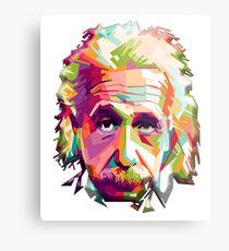 EINSTEIN, a go go, Genius, Math, E = mc2, Science, Physics, Cosmology, Groovy, Portrait Metal Print