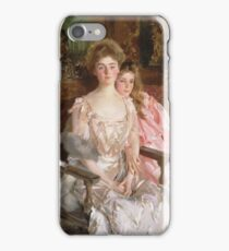 John Singer Sargent - Mrs. Fiske Warren And Her Daughter Rachel iPhone Case/Skin