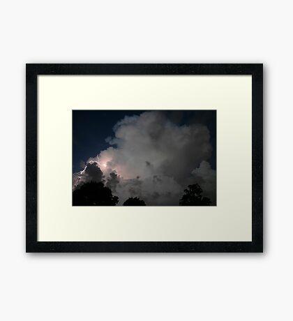 Evening Thunderstorm Framed Print