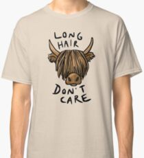 Long Hair Don't Care - the Highland Cow Classic T-Shirt