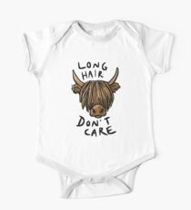 Long Hair Don't Care - the Highland Cow Kids Clothes