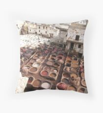 Moroccan Tannery Throw Pillow