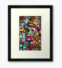 Bill Murray Junk Drawer Scavenger Hunt in Sharpie Marker Framed Print