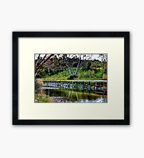 """Reflections Along  The Way"" Framed Print"