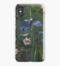 John La Farge - Wild Roses And Irises iPhone Case/Skin