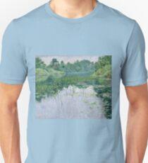 John Leslie Breck - Grey Day On The Charles Unisex T-Shirt