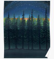 Moonrise at Twilight Starshine Poster